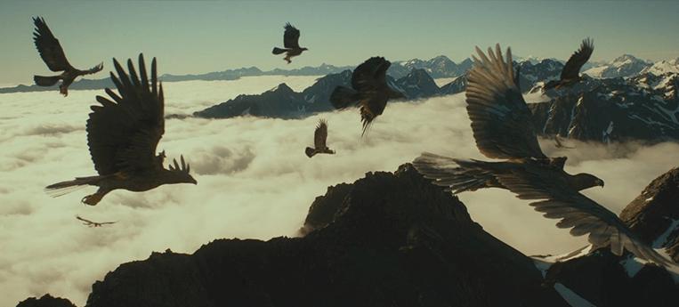 As águias de do filme O Hobbit