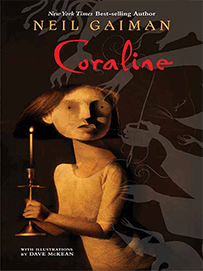 Capa do livro Coraline, de Neil Gaiman
