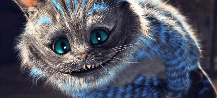 Gato Cheshire do filme Alice no País das Maravilhas