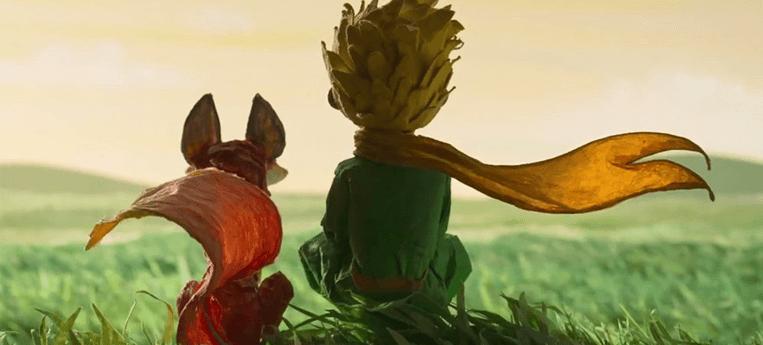 A personagem raposa e o Pequeno Príncipe