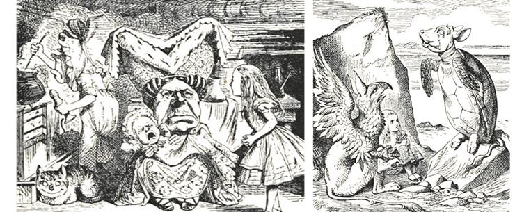 Personagens Bizarros de Alice no País das Maravilhas